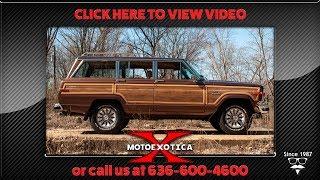 1985 Jeep Grand Wagoneer 4x4 (SOLD)