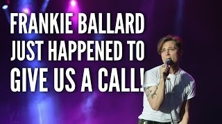 frankie ballard just happened to call mr morning and suzy in the kicks 105 5 studio