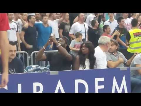 A woman from the US experiences cultural shock on a European basketball court
