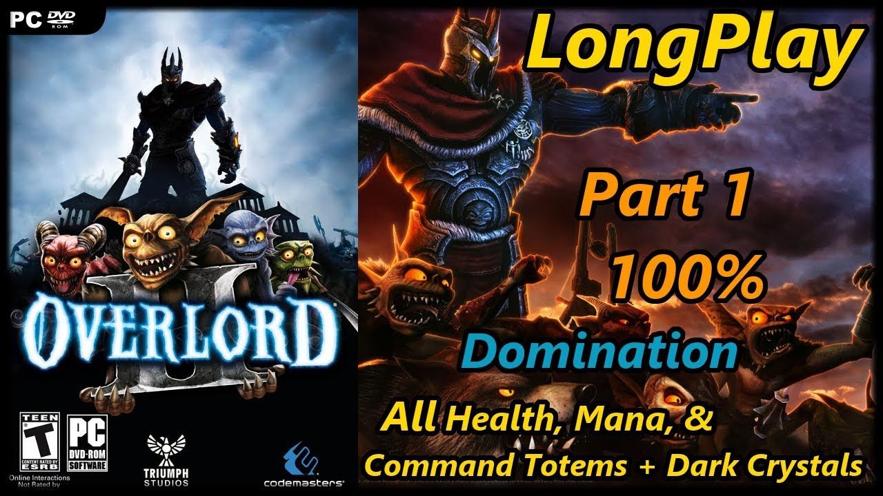 Overlord 2 Longplay 100 Domination Part 1 Of 2 All Tower