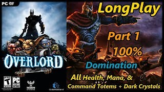 Overlord 2 - Longplay 100% Domination (Part 1 of 2) All Tower Objects Walkthrough (No Commentary)