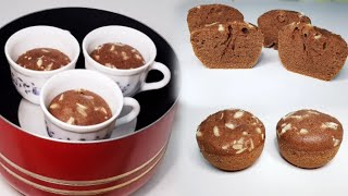 Make Cake in tea cup without oven   cup cake   without oven
