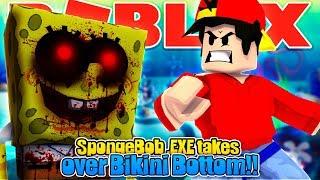 ROBLOX - SPONGEBOB . EXE TAKES OVER BIKINI BOTTOM!!