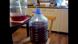 вино из крыжовника, второе снятие с осадка