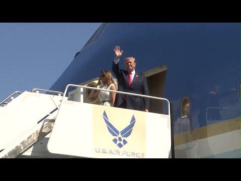President Trump Lands At Hickam Air Force Base, Hawaii