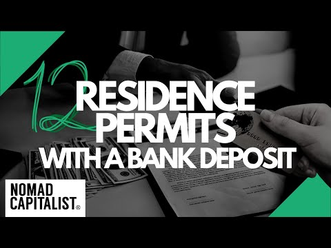 12 Second Residence Permits With A Simple Bank Deposit