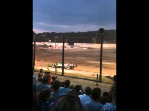 Jet car at Lebanon Valley Speedway Monster Jam 2013
