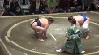 20140915 大相撲秋場所2日目 碧山vs稀勢の里.