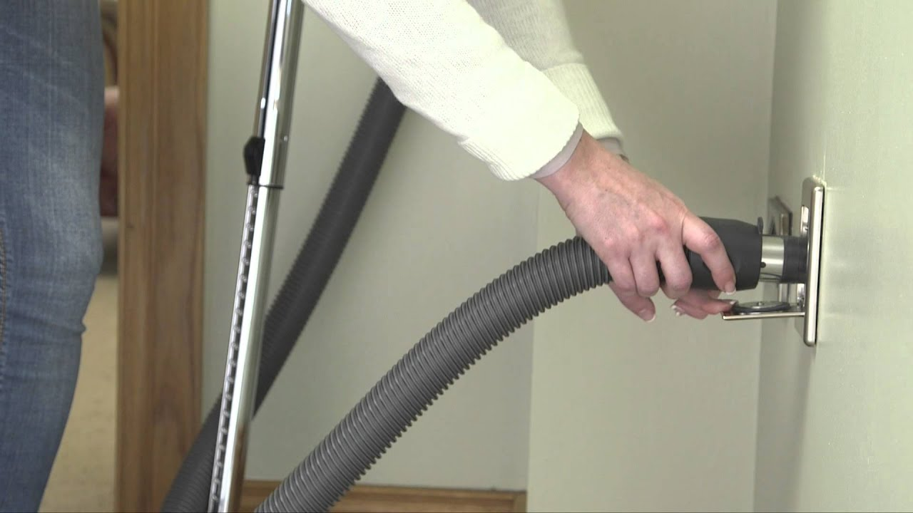 How To Insert The Cleaning Hose Into A Beam Central Vacuum System Inlet
