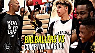 Compton Magic BULLY LaMelo Ball & Big Ballers By 50 Points While James Harden Watched!!!