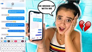 SONG LYRICS PRANK ON BOYFRIEND He Was REALLY MAD **We broke up**