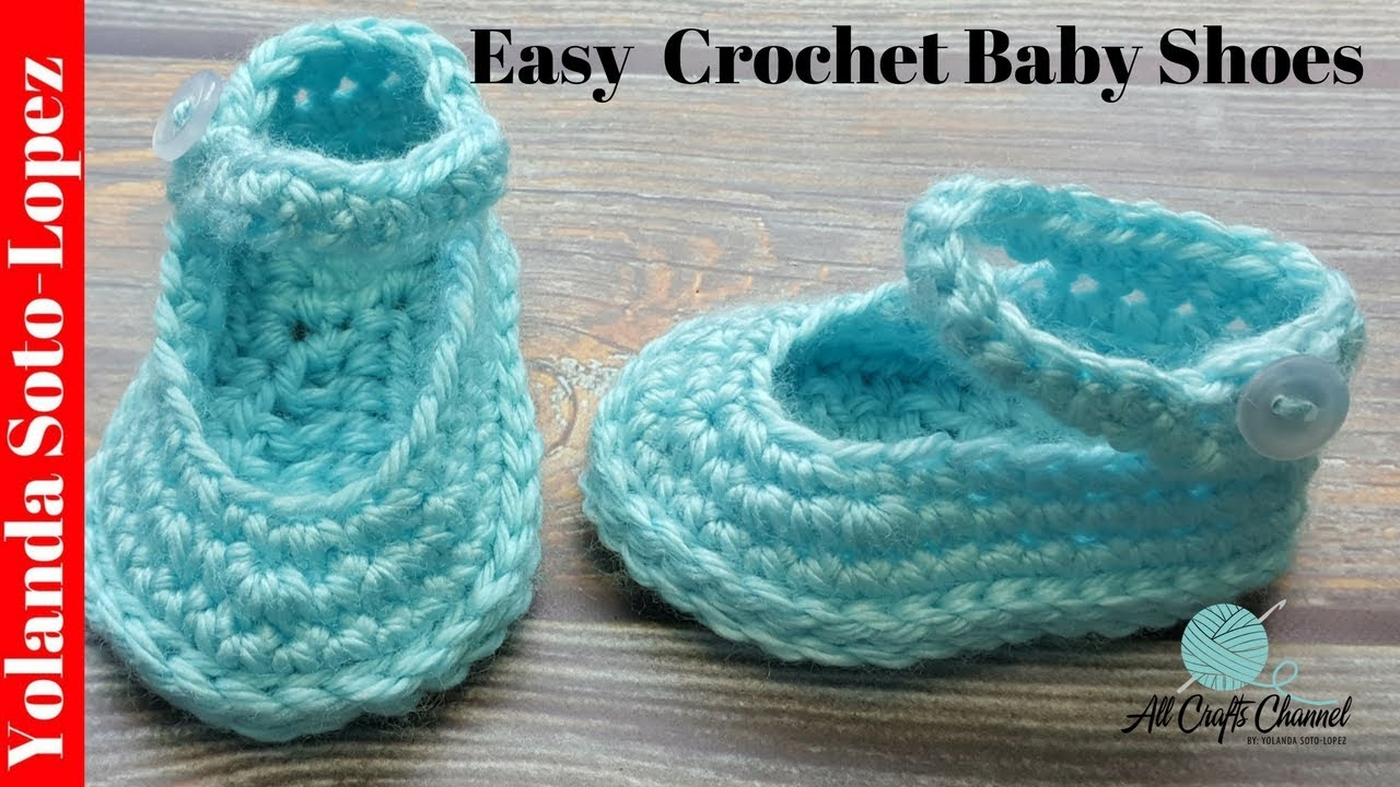 Learn To Crochet Baby Shoes Crochet Tutorial Youtube