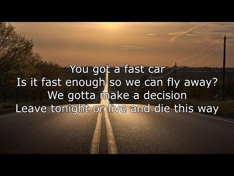 Jonas Blue ft. Dakota - Fast Car Lyrics