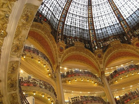 Places to see in ( Paris - France ) Galeries Lafayette Haussmann
