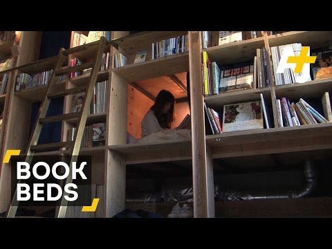 You Can Sleep In This Japanese Bookstore