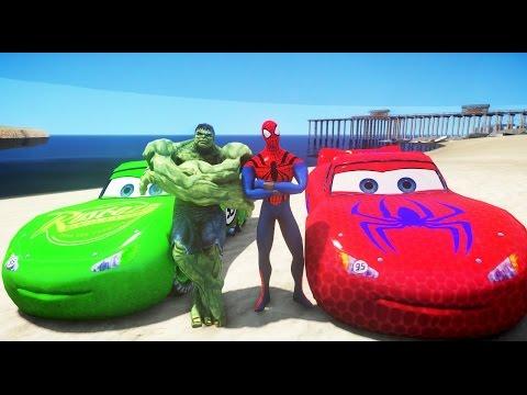 Человек паук мультфильм и машины