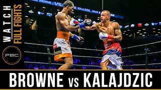 Browne vs Kalajdzic FULL FIGHT: April 16, 2016 - PBC on NBC
