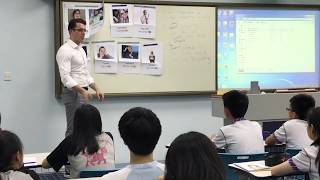 chss的本校外籍老師於南京進行試教 The NET teacher of our school demonstrate his teaching in Nanjing.相片