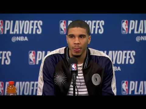 Jayson Tatum & Al Horford Postgame Interview   Celtics vs Sixers Game 3