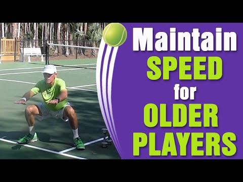 How To Maintain Speed For The Older Tennis Player