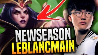 Faker Wants to Play Leblanc for New Season! - SKT T1 Faker Plays Leblanc with New Runes!