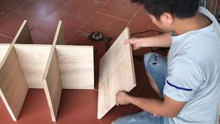 How to make simple TV shelves || carpenter dong
