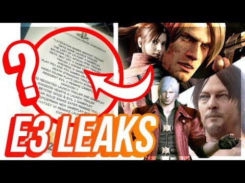 HUGE E3 LEAKS? Death Stranding Gameplay, RE2 Remake, FF7, Devil May Cry 5 & More