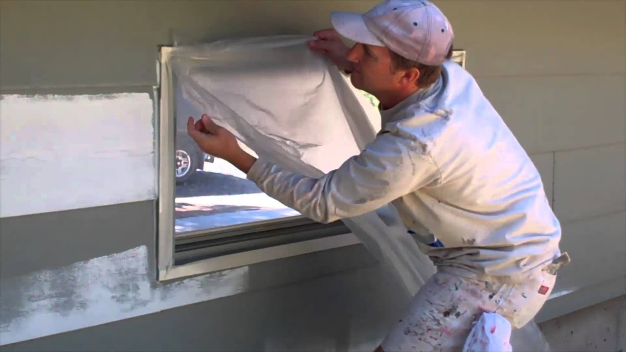 Masking Taping Windows And Doors For Painting Youtube