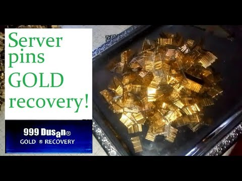 Gold Recovery From Server Pins!