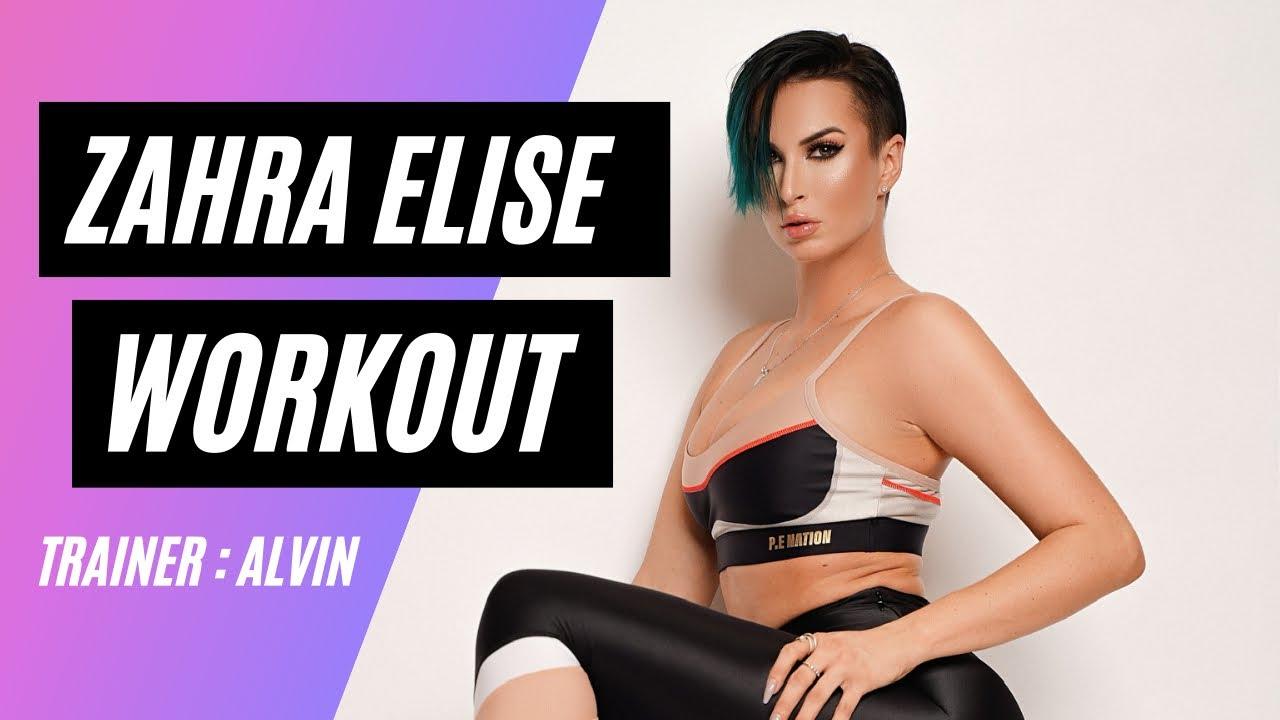 Zahra Elise : Workout in Miami ☀️ w/ Alvin