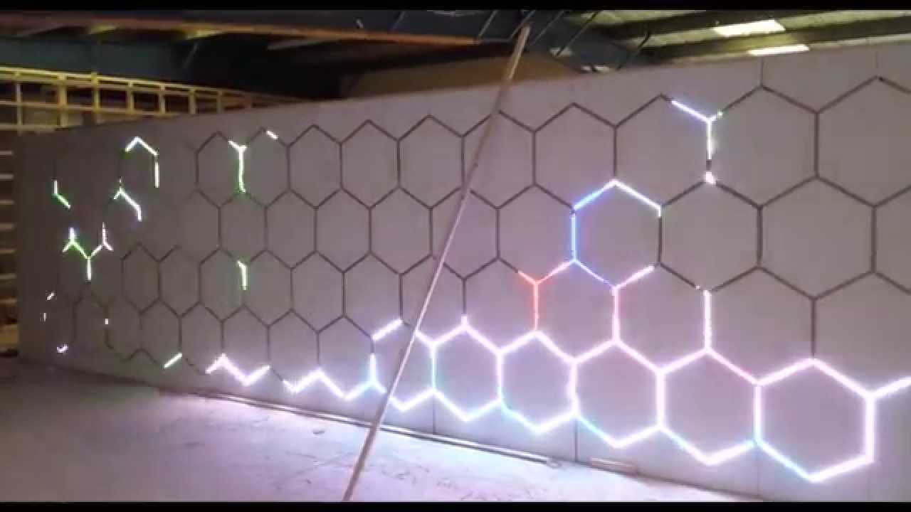Ws2812b Led Pixel Wall With Bespoke 18f26k22 Processor And