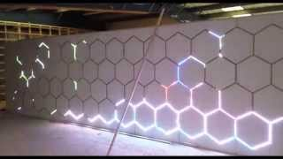 WS2812b Led pixel wall with bespoke 18F26K22 processor and pc interface