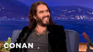 Russell Brand Has A Special Friendship With David Beckham - CONAN on TBS