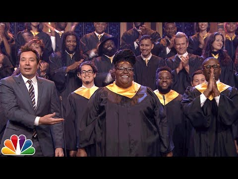 "Jimmy Fallon Announces $1M Donation to J.J. Watt, Invites Houston Choir to Sing ""Lean on Me"""