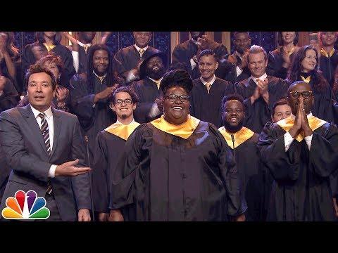 "Jimmy Fallon Announces $1M Donation to J.J. Watt, Invites Houston Choir to Sing ""Lean on Me"""