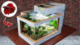 Build A Mini Villa To Raise Fish From Foam Box - You Can Do It Yourself