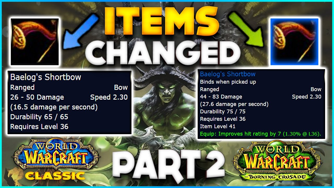More Items that get Changed in Burning Crusade Classic