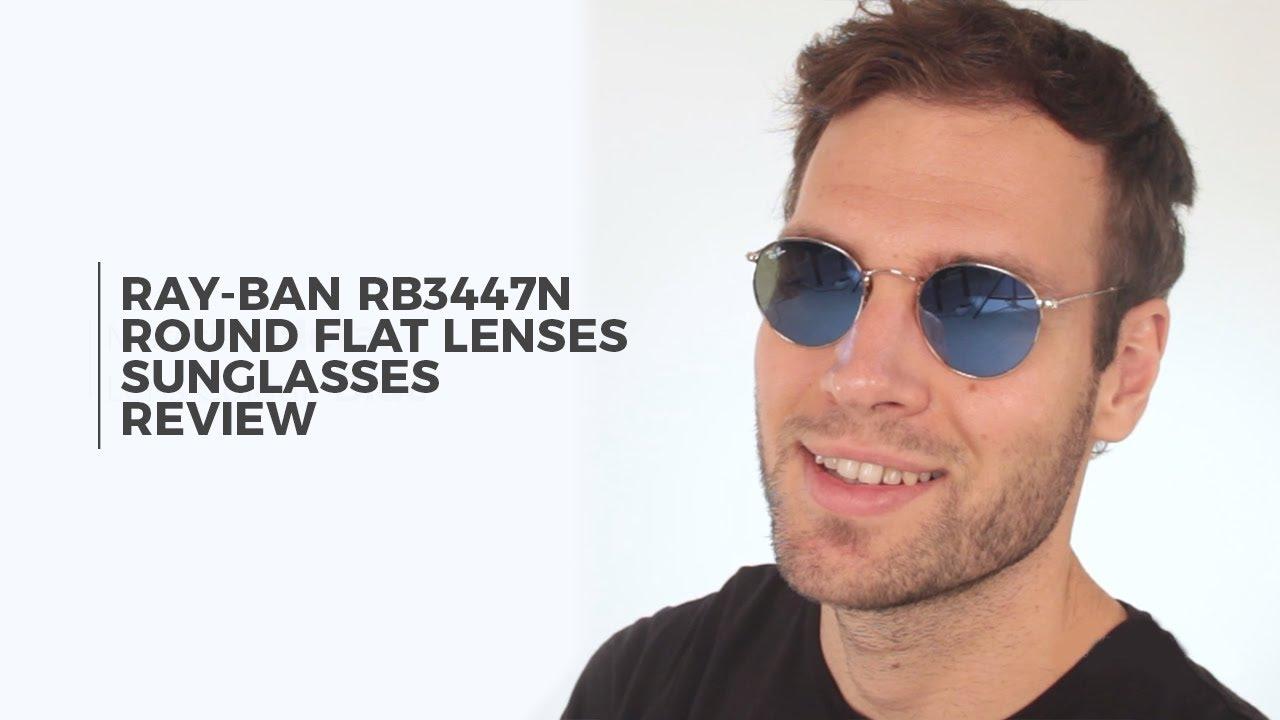 dd70e304db2 Ray Ban RB3447N Round flat lenses Sunglasses Review