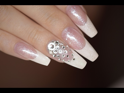 French Nails with Swarovski | Red Iguana | April Ryan