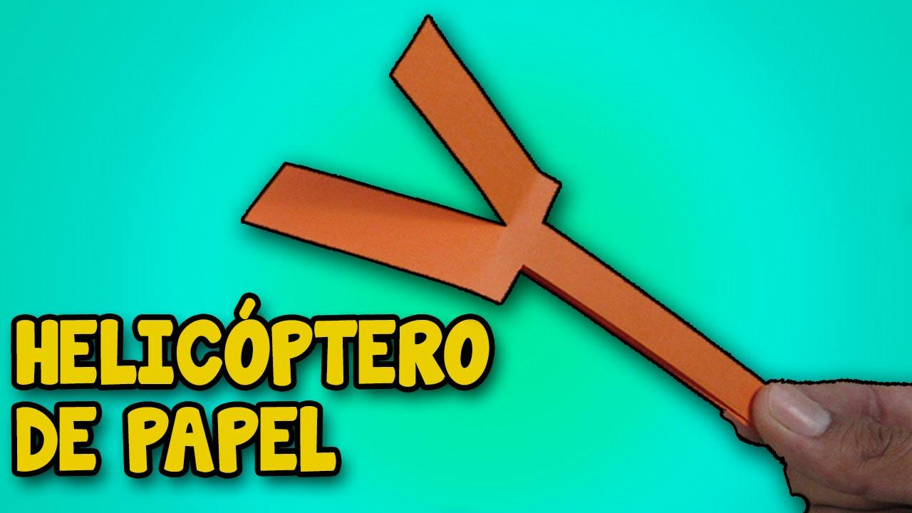 Caseros│how Como Vuele│juguetes Hacer Helicopter De Make Helicóptero Papel Que Un To Casero dxeBCo