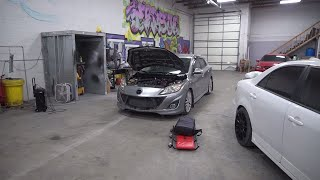 mazdaspeed 3  oil catch can install + VVT + speed 6 pulls