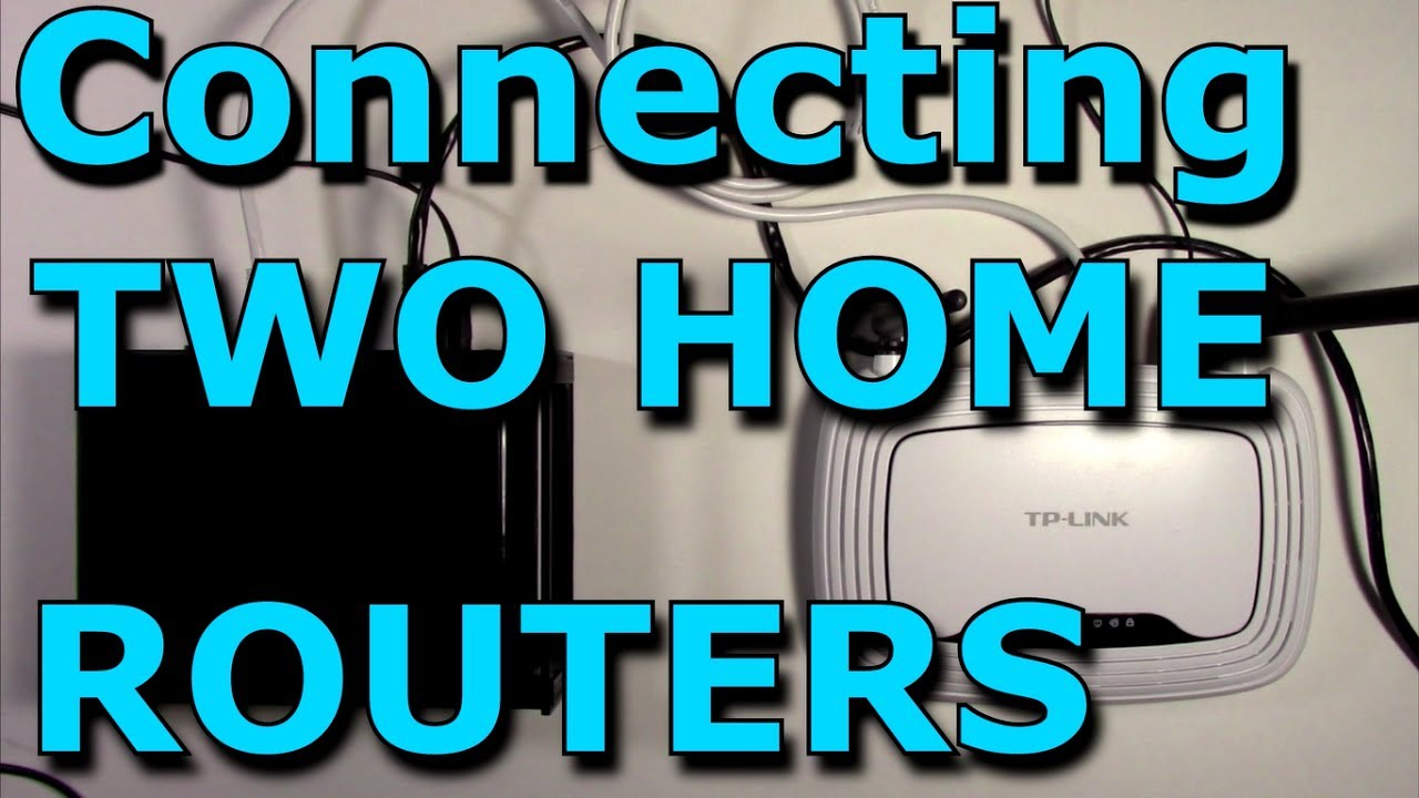 How To Connect Two Routers On One Home Network Using A Lan Cable Building Diagram For Wireless Stock Router Netgear Tp Link