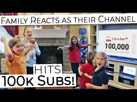 Family REACTS When Their YouTube Channel HITS 100k SUBSCRIBERS! Time For A Silver Play Button!