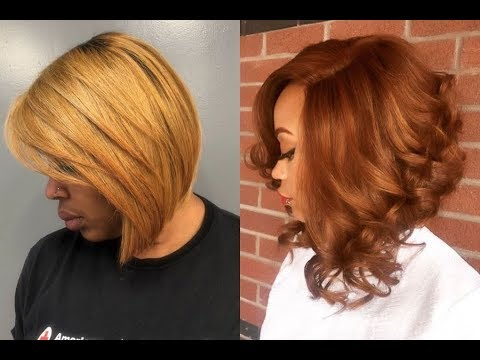 Short Bob Haircuts For Black Women 2019 Youtube