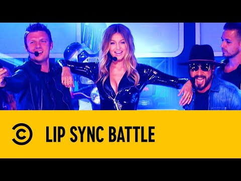 """Gigi Hadid Slays In Her """"Larger Than Life"""" Performance With The Backstreet Boys   Lip Sync Battle"""