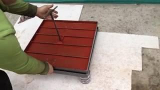 видео Напольный люк под плитку своими руками