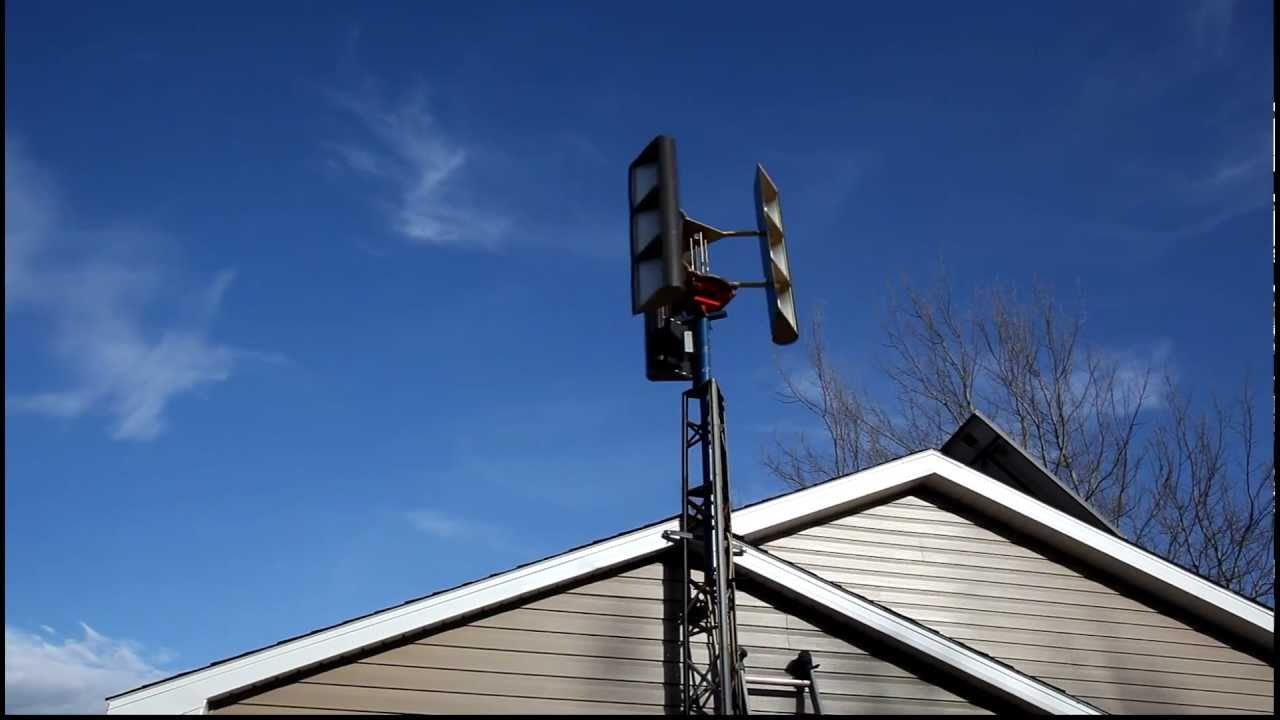 Home Made Vertical Axis Wind Turbine Youtube