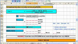 Ilmu Falak, Menghitung Waktu Shalat dengan Excel (Shalat Ashar Rumus 2)
