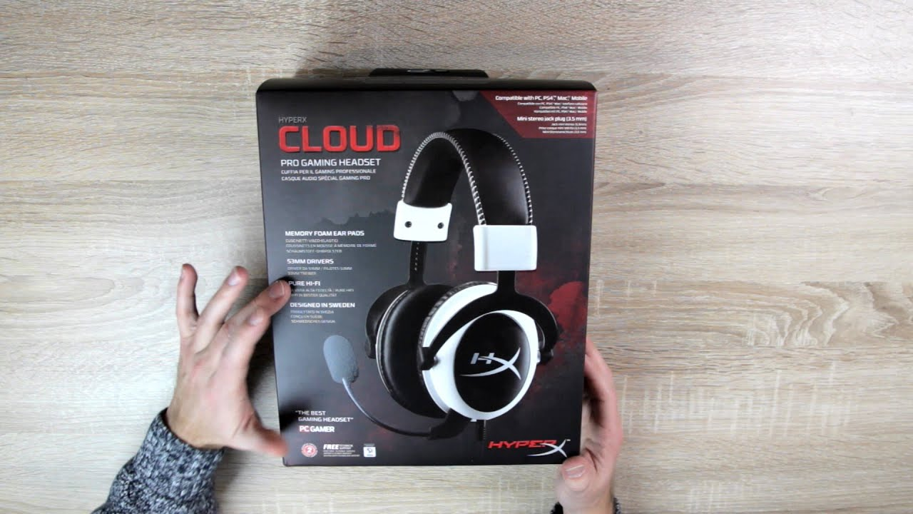 unboxing review zum hyperx cloud gaming headset mikrofon. Black Bedroom Furniture Sets. Home Design Ideas
