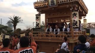 御前崎駒形神社祭典での六区集まってのお囃子披露、廣澤地区.